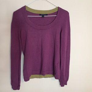Boden Plum Cotton Blend Sweater
